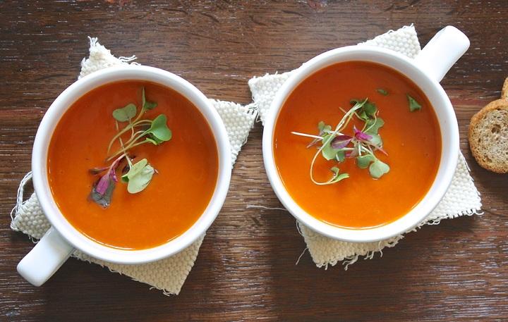receta Sopa otoñal de calabaza y zanahoria comedores escolares